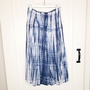 NWOT CHICO'S Tie Dye Tiered Maxi Skirt S